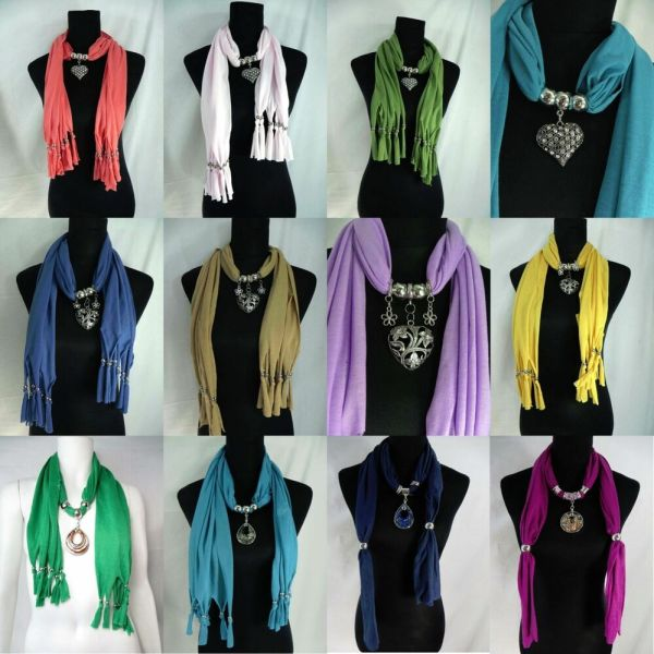 Seller-10 Pcs Pendant Scarves Jewelry Scarf