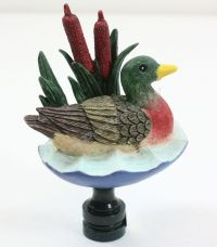 MALLARD DUCK FINIAL LAMP SCREW ON TOPPER LIGHT LIGHTING ...
