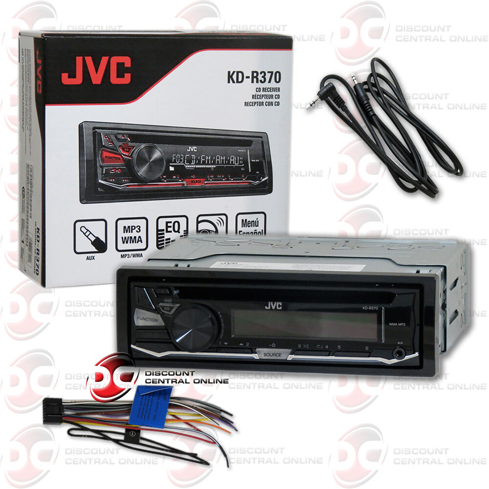 Jvc Kd R370 1 Din Car Stereo Cd Mp3 Receiver With Aux In