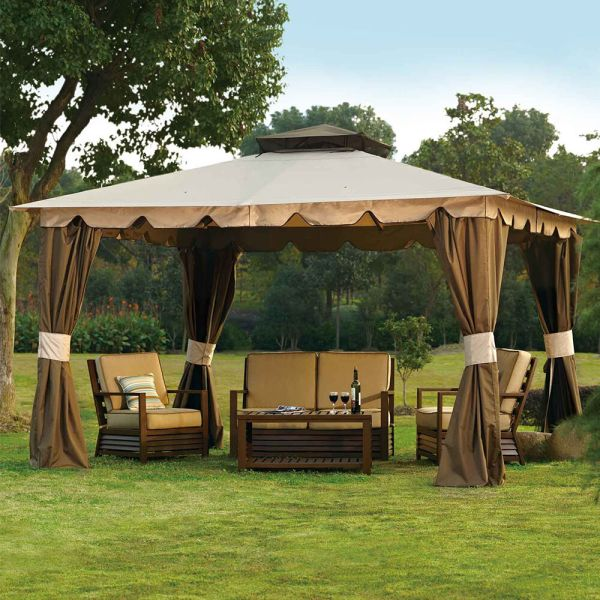 10 X 12 Hampton Gazebo Outdoor Patio Canopy Mosquito