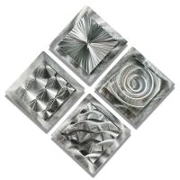 Modern Abstract Silver Metal Wall Art Decor Sculptures ...