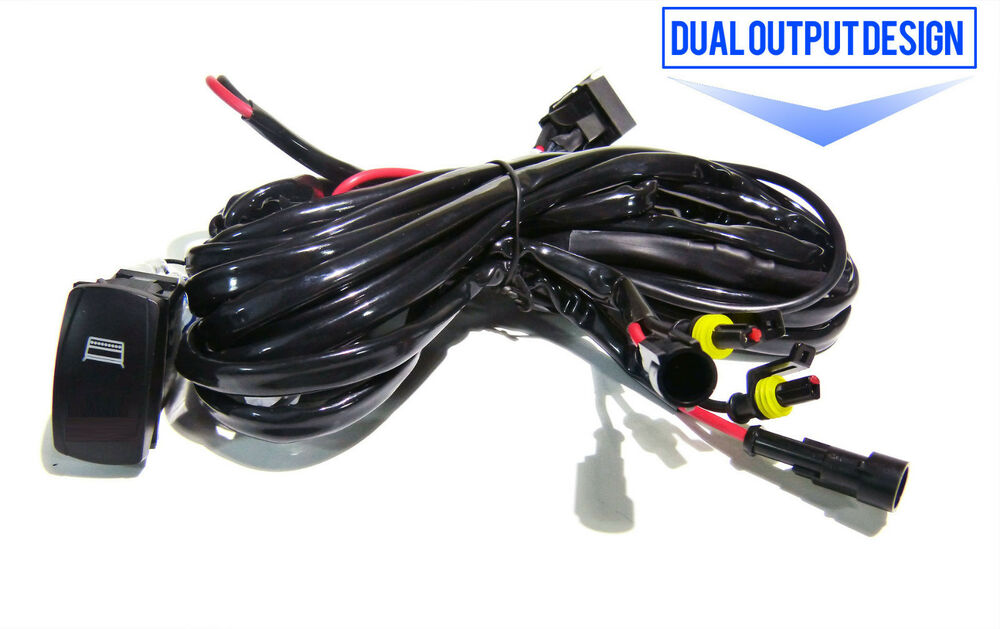 universal wiring relay harness switch for 36w 72w led