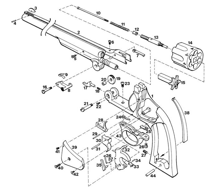 70 SMITH & WESSON REVOLVER EXPLODED Parts Diagram Auto
