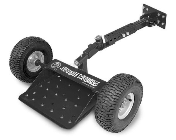 Jungle Jim' Wheels Black Commercial Mower Stand