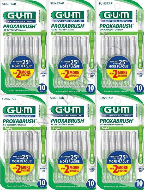 GUM GoBetweens Proxabrush Cleaners Tight 872 8 Each 6