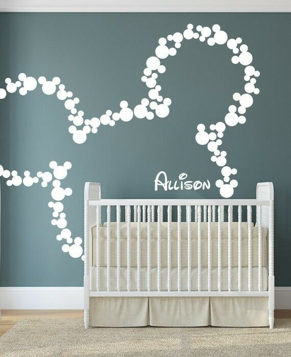 Ebay Laundry Room Cute Wallpaper Wall Sticker Personalized Mickey Mouse Nursery Decal
