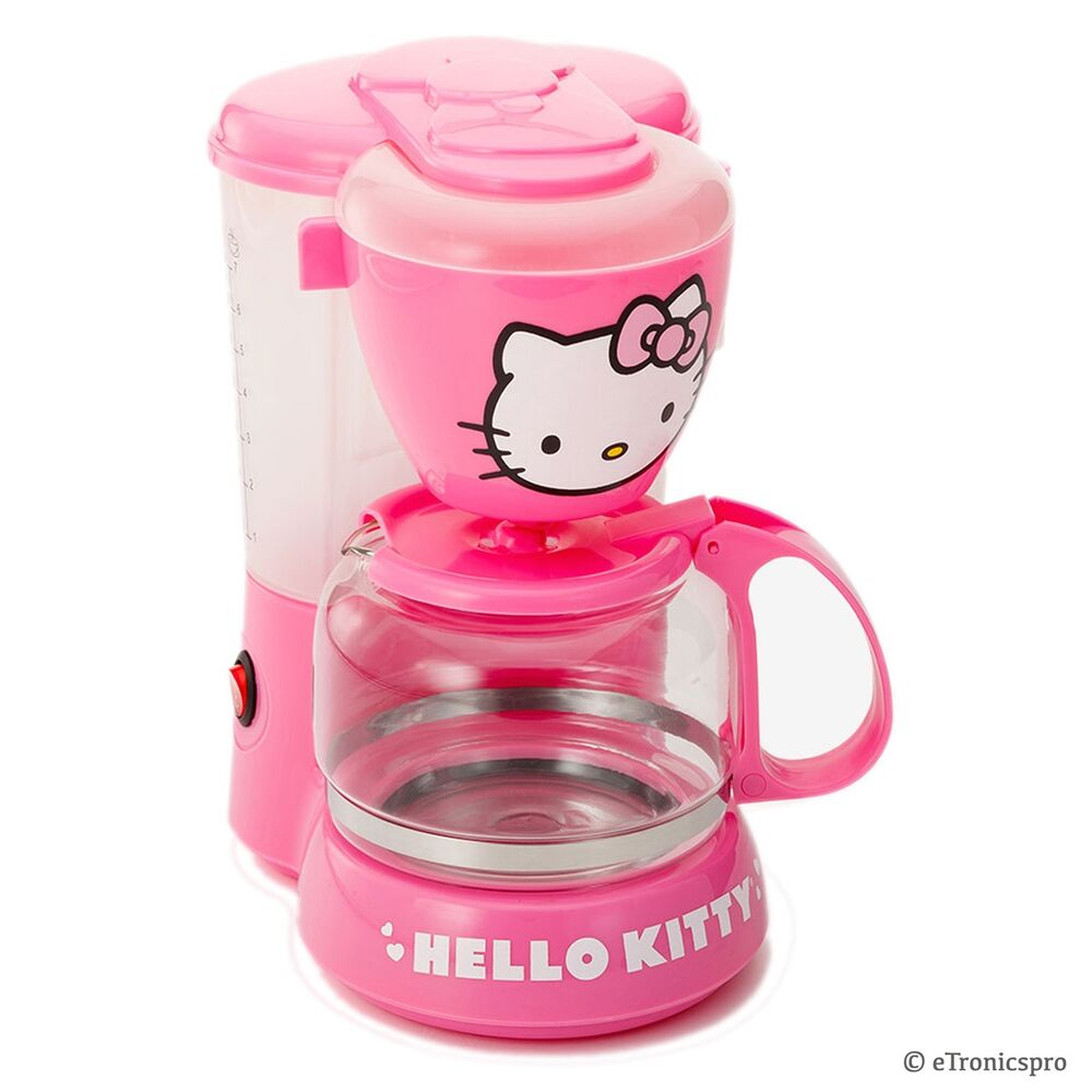 HELLO KITTY APP 36209 KITCHEN APPLIANCE ELECTRIC COFFEE MAKER MACHINE PINK NEW 91037893253 EBay