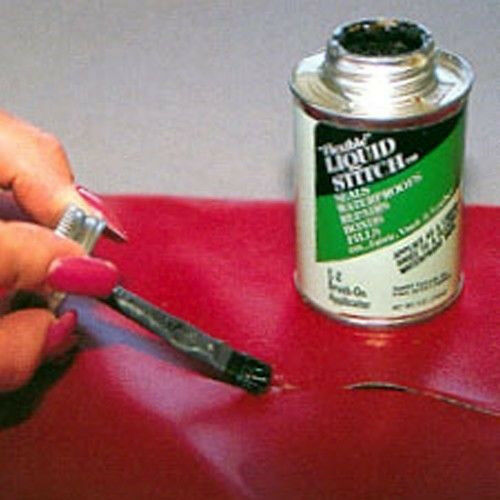 how to repair a large tear in leather sofa bed navy blue liquid stitch flexible adhesive vinyl ...