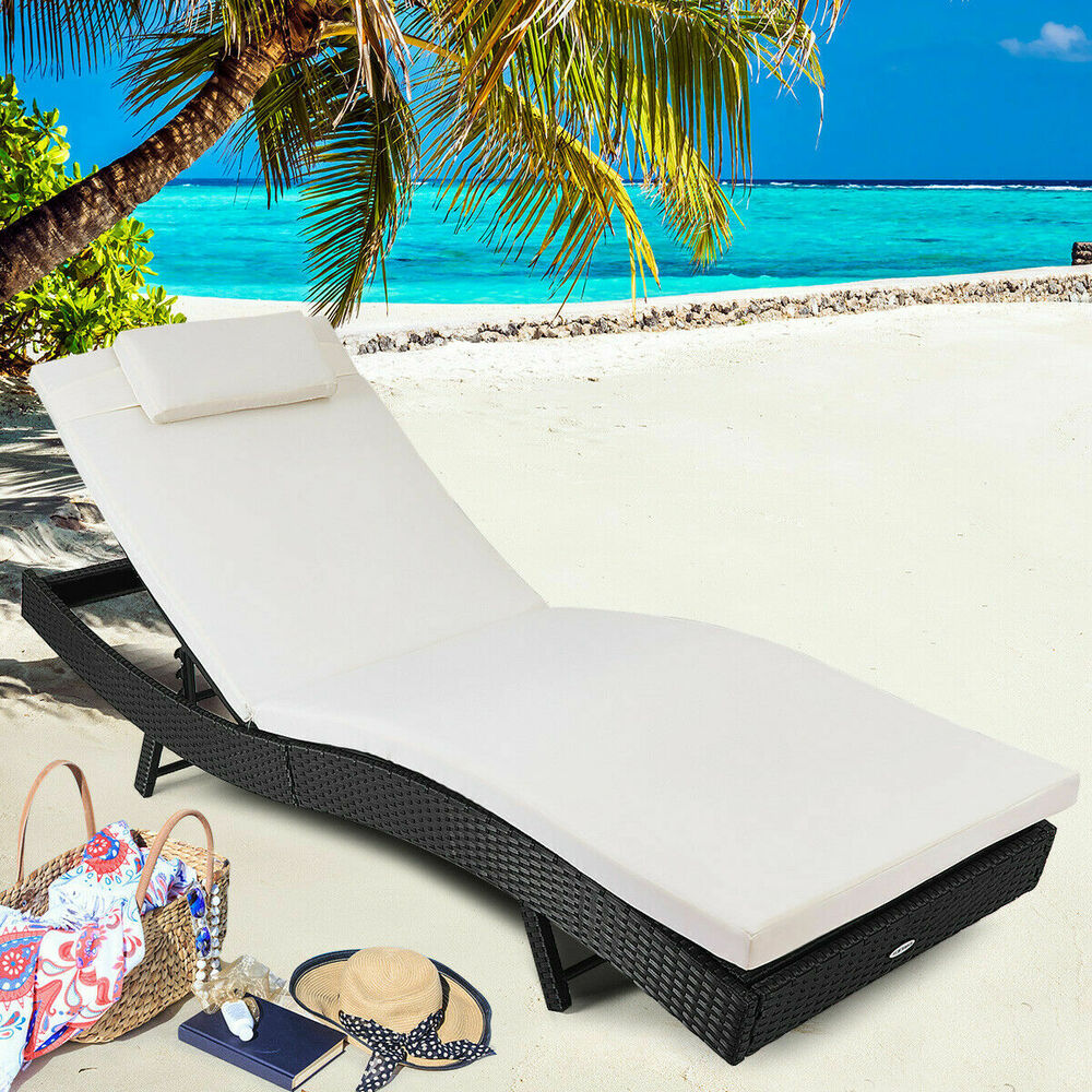 Adjustable Pool Chaise Lounge Chair Outdoor Patio