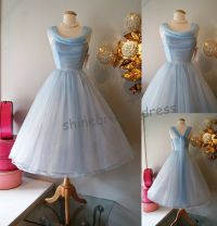 Vintage 1950's Short Cocktail Prom BALL Tea Length