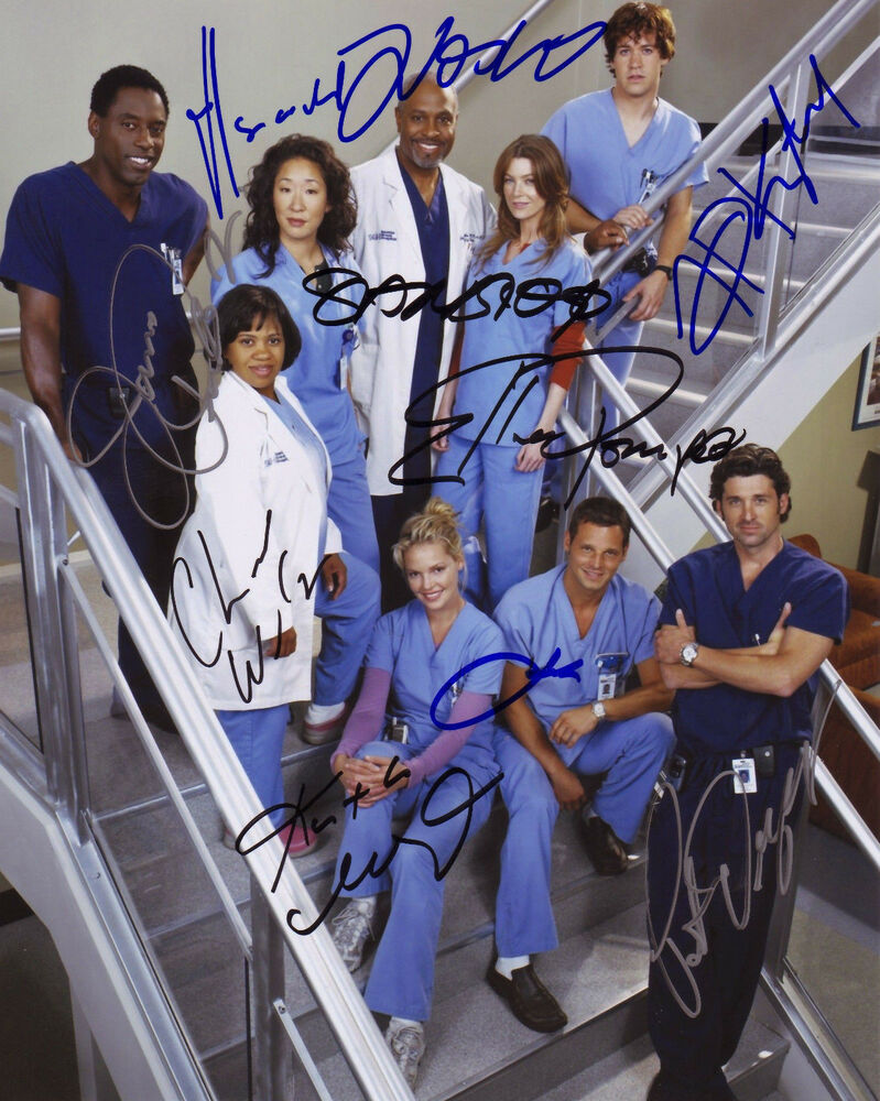 Greys Anatomy Cast Of  Autograph Signed Pp Photo Poster