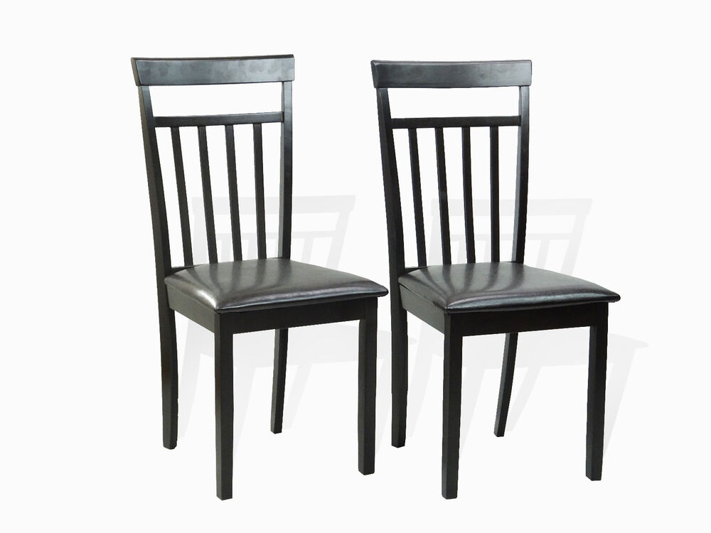 Set of 2 Warm Dining Room Kitchen Chairs Solid Wood in