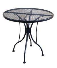 30 Inch Round Black Mesh Wrought Iron Metal Table Outdoor ...