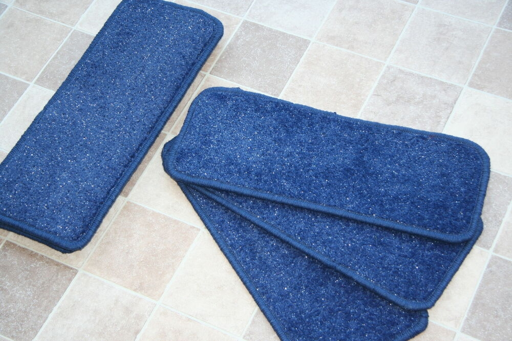 14 Blue Glitter Open Plan Carpet Stair Treads Blue Sparkle   Glitter Stairs With Carpet