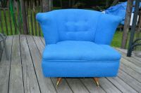 Vintage Mid-century Modern swivel Barrel Club Lounge Chair ...