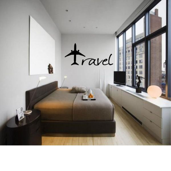 Travel Plane Decor Wall Art Decal Quote Words Lettering