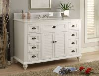 "Glennville 49"" Cottage Bathroom Vanity Cabinet Set in ..."