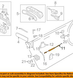 details about audi oem 98 04 a6 quattro front door cable left 4b0837085 [ 1000 x 798 Pixel ]