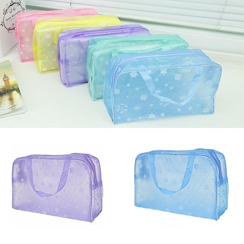 Popular Clear Waterproof Bag Wash Case Toiletry Organizer