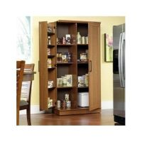 Tall Kitchen Cabinet Storage Food Pantry Wooden Shelf ...