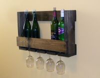 Pallet Wine Rack with Glass Holder Wedding Anniversary