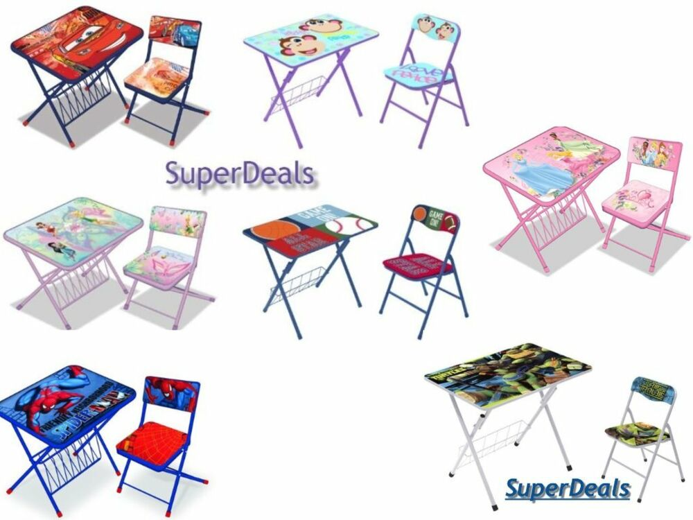 chair for child s desk green dining cushions disney kids activity and set -children's character table with | ebay