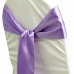 Chair Cover Decorations For Wedding Folding Chairs Camping 100 Lavender Satin Sash Bows Sashes Tie Party | Ebay