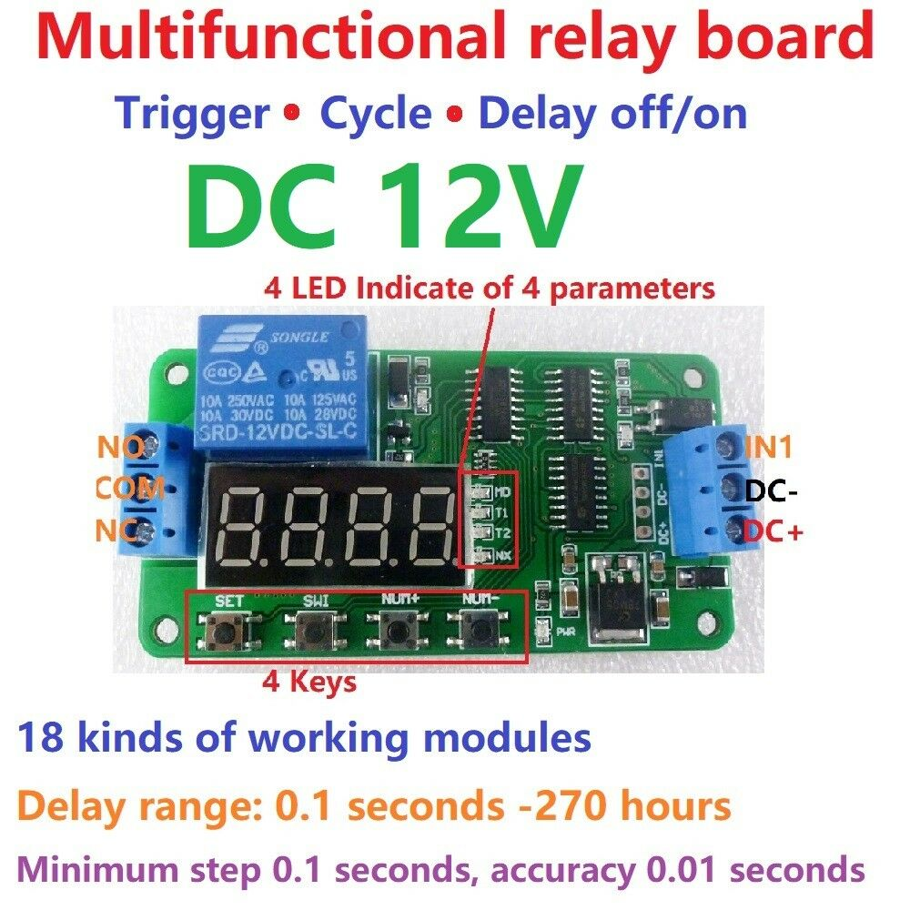 9 Second Led Timer And Relay Circuit