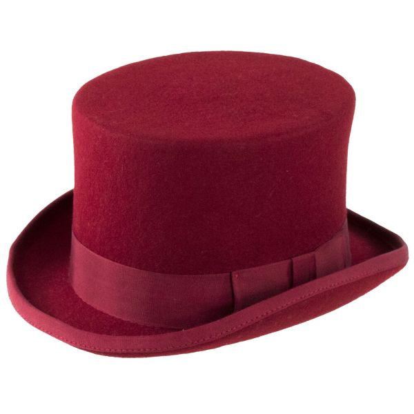 Christys' Fashion Top Hat - Red