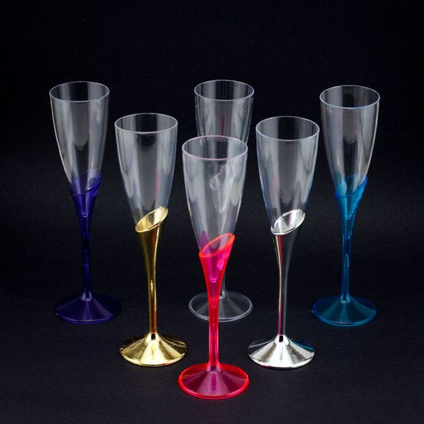 Plastic Champagne Wine Flutes Wedding Party Glasses