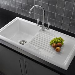 Ceramic Kitchen Sink Cabinets Financing Reginox Rl304cw White Single Bowl ...