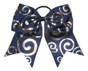 """silver swirl navy blue"" cheer"