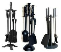 5pc Cast Iron Fireplace Companion Set Fire Tweesers Brush ...