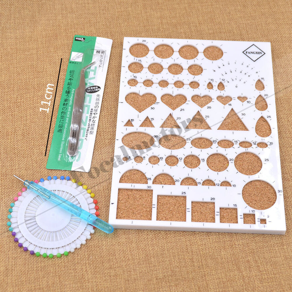 4PCS Paper Quilling Temlated Kit DIY Paper Craft Tool