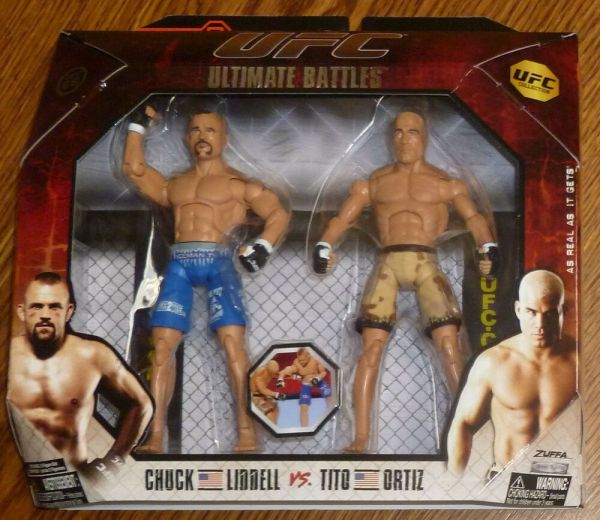 Tito Ortiz Chuck Liddell Ufc Jakks Pacific Action Figures Ultimate Battles 3 Set