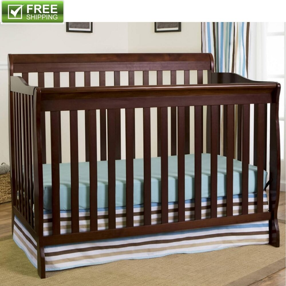 Convertible Baby Bed 5 In 1 Full Size Crib Espresso