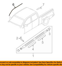 details about nissan oem 04 14 titan exterior cab side seal right 808288s500 [ 1000 x 798 Pixel ]