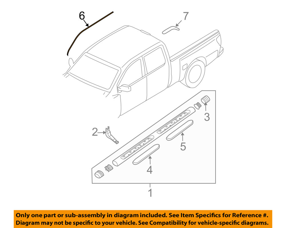 hight resolution of details about nissan oem 04 14 titan exterior cab side seal right 808288s500
