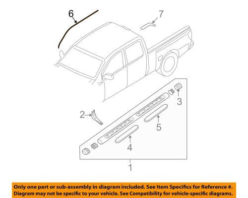 small resolution of details about nissan oem 04 14 titan exterior cab side seal right 808288s500