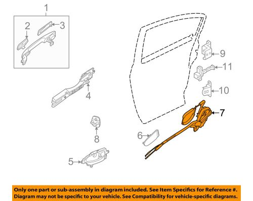 small resolution of details about nissan oem 07 12 altima rear door lock actuator motor 82501zx60a