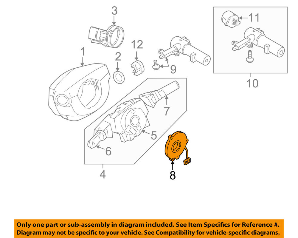 medium resolution of details about nissan oem steering column angle position sensor 479453x10a