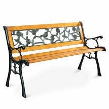 "Goplus 49 1 2"" Patio Park Garden Porch Chair Bench Cast"