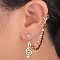 Prom Music Note Crystal Gold Plated Clip Gothic Ear Cuff ...