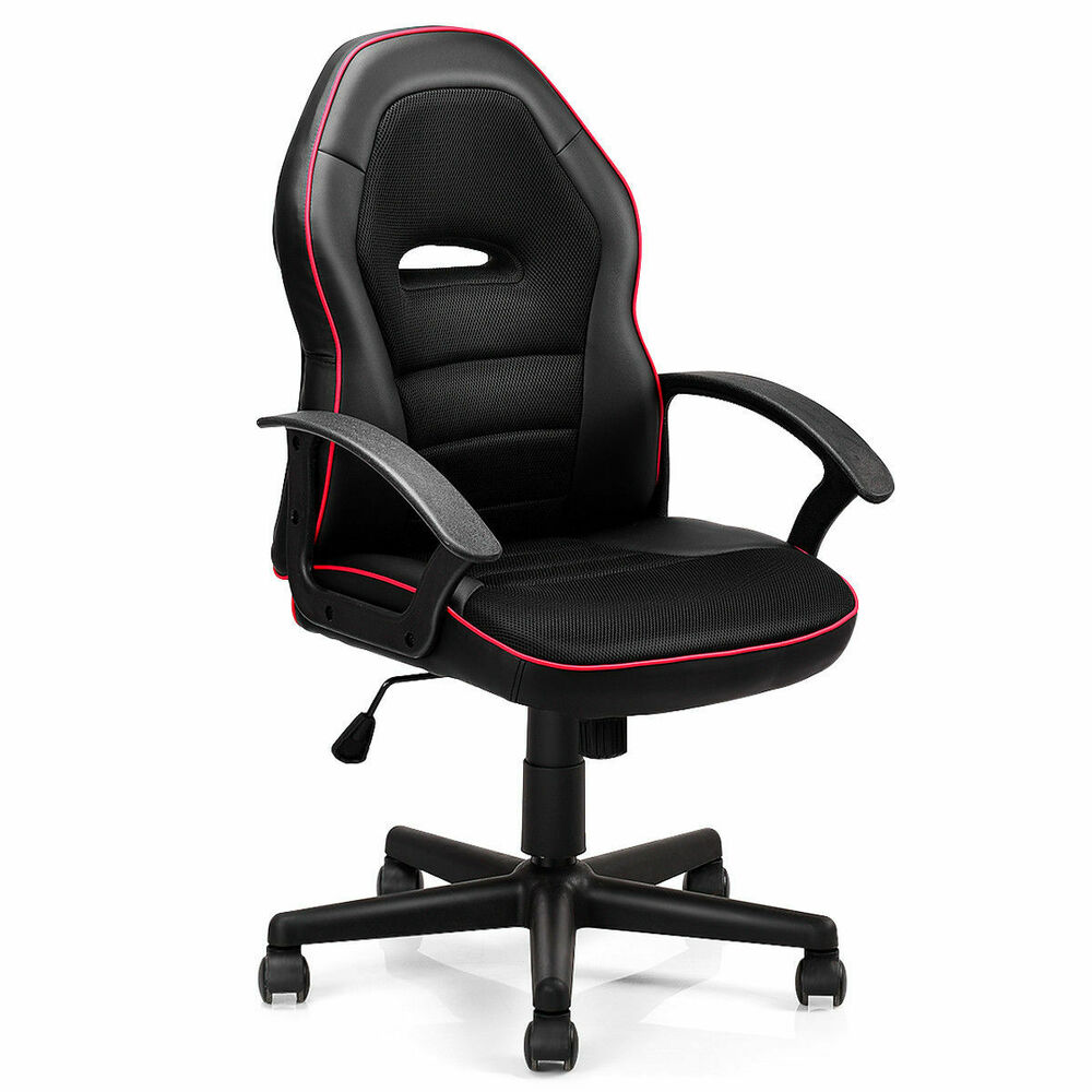 Black PU Leather High Back Office Chair Executive