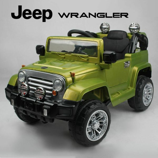Kids Ride Jeep Wrangler Childrens 12v Battery Remote Control Toy Car Cars