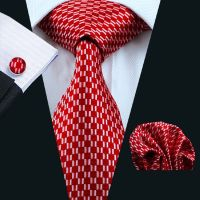 SN-569 Mens Silk Ties Red Tie Sets Jacquard Woven Neckties ...