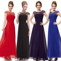 UK Long Formal Evening Prom Party Dress Bridesmaid Dresses ...