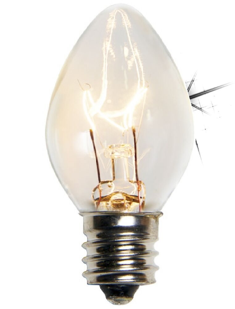(CLEAR) C7 RETRO REPLACEMENT CHRISTMAS BULB LAMP LIGHT