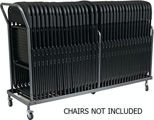 Vertical Storage Folding Chair Dolly  32 Folded Chairs