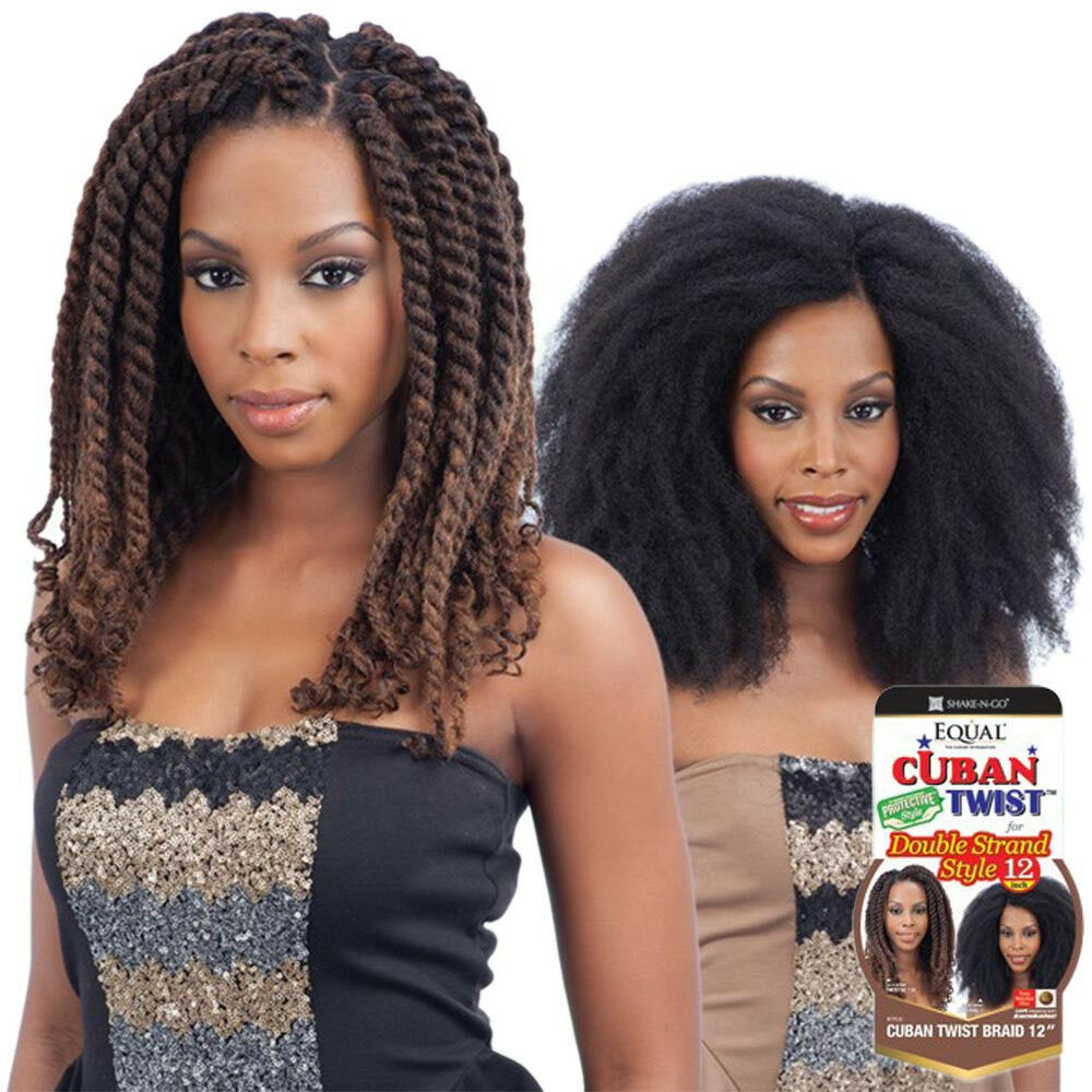 Freetress Equal Cuban Twist Braid For Double Strand Style